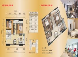 Căn hộ 08B tòa B, diện tích 71,6 m2