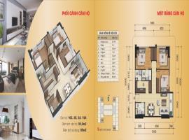 Căn hộ 10C, 2C, 2A,16A, diện tích 95,8m2, 3 phòng