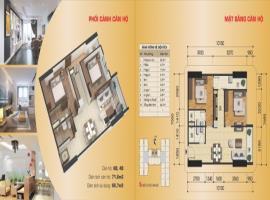 Căn hộ 6B, 4B tòa B, diện tích 71,6 m2