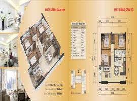 Căn hộ 9C, 1C, 1A, 15A, diện tích 95,8m2, 3 phòng