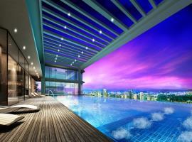 Bể bơi tại chung cư tháp Doanh Nhân
