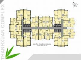 Mặt bằng tầng điển hình dự ánThanh Xuân complex