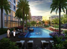 Hồ bơi tràn tại dự án Him Lam Phú Đông