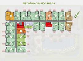 Mặt bằng tầng 19 dự án Him Lam Phú Đông