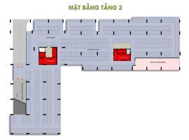 Mặt bằng tầng 2 dự án Him Lam Phú Đông
