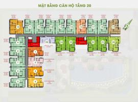 Mặt bằng tầng 20 dự án Him Lam Phú Đông