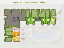 Mặt bằng tầng 21 dự án Him Lam Phú Đông