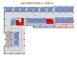 Mặt bằng tầng 3-4 dự án Him Lam Phú Đông