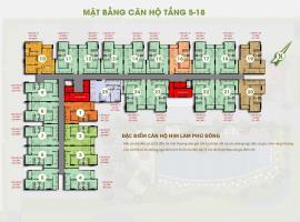 Mặt bằng tầng 5-18 dự án Him Lam Phú Đông