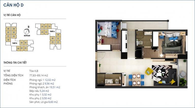 Căn 17 Tòa B tầng 3-Chung cư Rivera Park Hà Nội