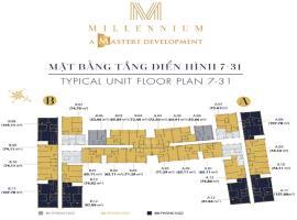 Mặt bằng tầng điển hình dự án Masteri Millennium