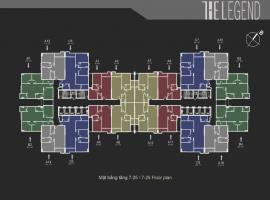 Mặt bằng tầng 7-25 dự án The Legend