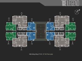 Mặt bằng tầng điển hình tầng 27-30 dự án The Legen