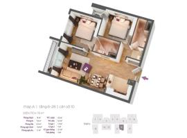 Căn hộ số 10 tầng 6-28 tháp A dự án Hồ Gươm Plaza