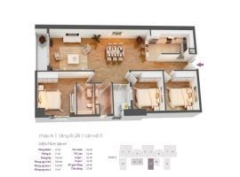 Căn hộ số 11 tầng 6-28 tháp A dự án Hồ Gươm Plaza
