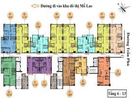 Mặt bằng tầng 6-13 tháp A  dự án Hồ Gươm Plaza