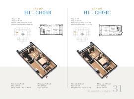 CH04C - Tòa H1 Căn hộ cao cấp SunShine Minh Khai