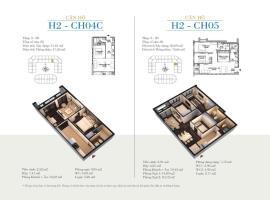 CH05 Tòa H2 tầng 5 Căn hộ cao cấp SunShine Minh Khai - Tầng: 5