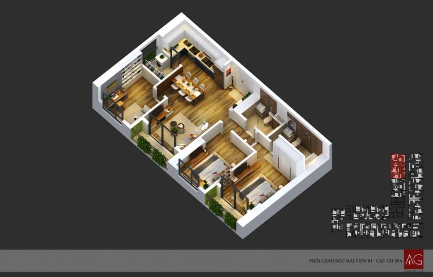 Căn 09 Chung cư Anland Complex Building