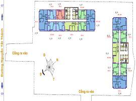 Mặt băng tầng 31-34 dự án Lancaster Lincoln