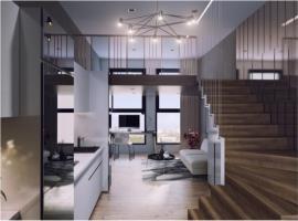 Phòng bếp căn hô tai dự án Lancaster Lincoln