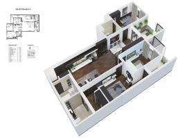 Phối cảnh căn hộ cao cấp HPC LandMark 105 loại 2PN