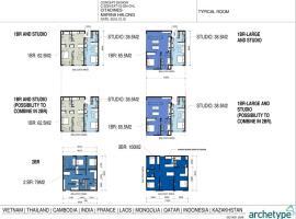Mặt bằng thiết kế các căn hộ tại dự án Citadines H