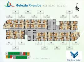 Mặt bằng tầng điển hình toàn CT1 dự án Gelexia Riv