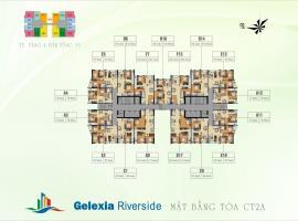 Mặt bằng tầng điển hình toà CT2A dự án Gelexia Riv