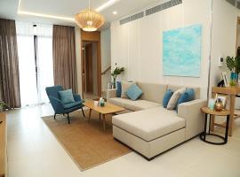 Phòng khách tại dự án Cam Ranh Mystery Villas