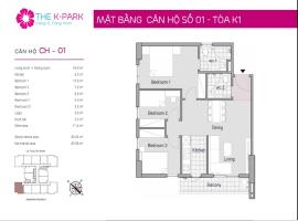 01 Tòa K1 tầng 9 Chung cư The K-Park Văn Phú - Tầng: 9