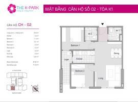 02 Tòa K1 tầng 9 Chung cư The K-Park Văn Phú - Tầng: 9