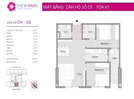 03 Tòa K1 tầng 9 Chung cư The K-Park Văn Phú - Tầng: 9