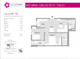14 Tòa K1 tầng 12-Chung cư The K-Park Văn Phú