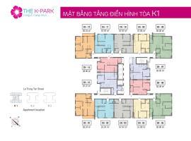 Mặt bằng tầng điển hinh tòa K1 dự án The K Park