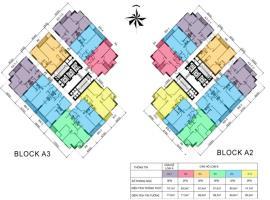 Măt bằng Block  A2, A3 dự án Centum Wealth