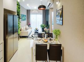 Phòng khách căn hộ tại dự án Centum Wealth