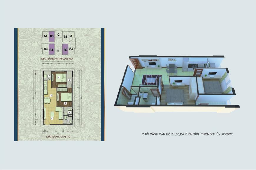Căn hộ B1, B3, B4 chung cư Handico 30 Nghi Phú