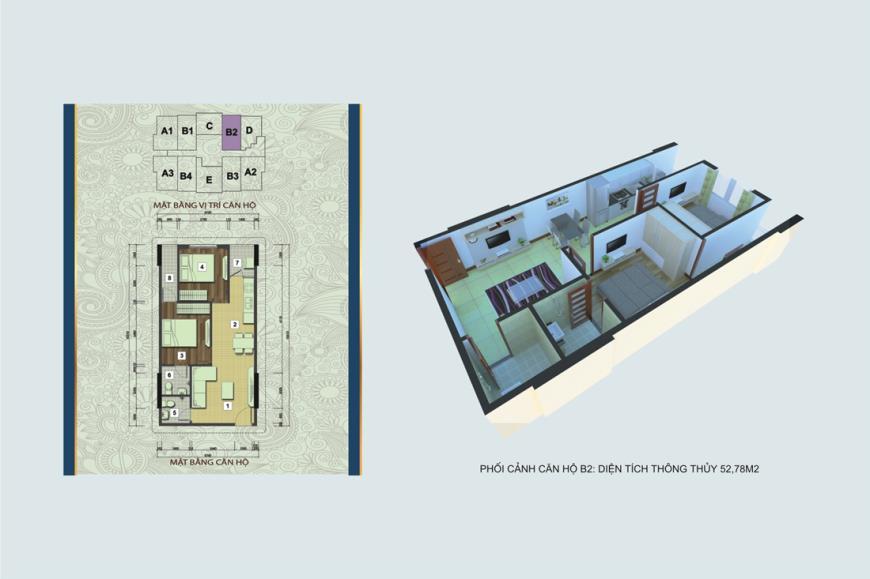 Căn hộ B2 chung cư Handico 30 Nghi Phú