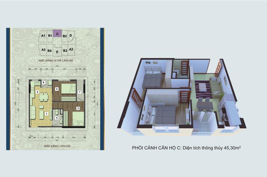 Căn hộ C chung cư Handico 30 Nghi Phú