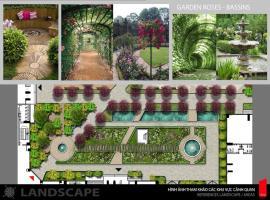 Khuôn viên vườn hoa tai dự án Iris Garden