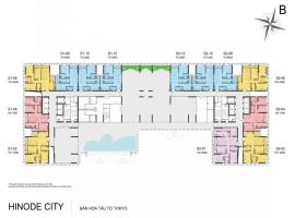 Mặt bằng tầng 4-24 tòa Sachi dự án Hinode City