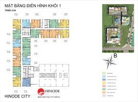 Mặt bằng tầng điển hình khối 1 dự án Hinode City
