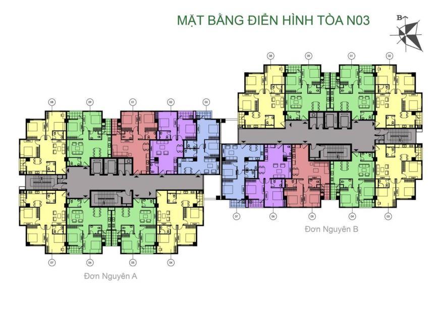 Phối cảnh tòa N03 dự án K35 Tân Mai