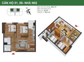 Căn hộ 01,08 tòa N02 dự án K35 Tân Mai