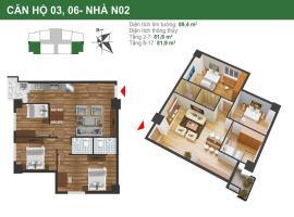 Căn hộ 03, 06  tòa N02 dự án K35 Tân Mai