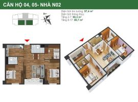 Căn hộ 04, 05 tòa N02 dự án K35 Tân Mai