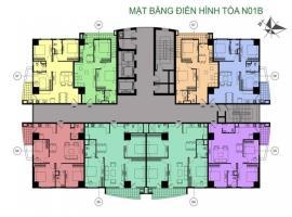 Mặt bằng tòa N01B  dự án K35 Tân Mai