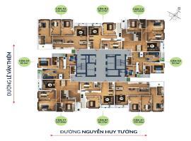 Mặt bằng thiết kế chung cư Bohemia Nguyễn Huy Tưởn