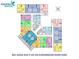 Mặt bằng tòa River 2 dự án Eurowindow river park